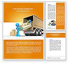 Careers/Industry: Plantilla de Word - transporte de carga #07461