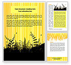 Nature & Environment: Grass Word Template #07466