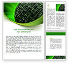 Technology, Science & Computers: Matrix Sphere Word Template #07478