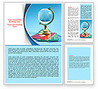 Careers/Industry: Crystal Globe At The Plastic Cards Word Template #07479