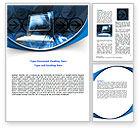 Technology, Science & Computers: Desktop Computer Word Template #07482
