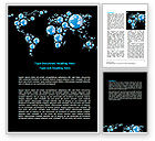 Global: Bubble World Map Word Template #07485