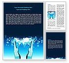Global: Teal Wereld In Handen Word Template #07487