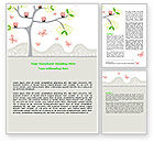 Education & Training: Spring Tree Word Template #07499