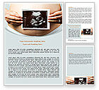 Medical: Ultrasound Portrait Of Baby Word Template #07501