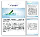Nature & Environment: Frühlingsblatt Word Vorlage #07504