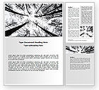 Nature & Environment: Winter Trees Word Template #07514