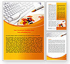 Art & Entertainment: Computer Palette Word Template #07520