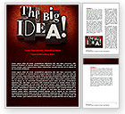Consulting: The Big Idea Word Template #07522