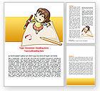 Education & Training: Childrens Art Word Template #07527