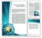 Global: Abstract Globe Word Template #07534