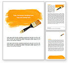 Careers/Industry: Yellow Paint Brush Word Template #07536
