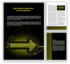Business Concepts: Yellow Pointer Word Template #07537