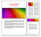 Careers/Industry: Spectrum Colored Chairs Word Template #07540