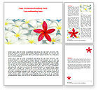 Business Concepts: Spring Flowers Word Template #07544