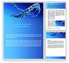 Nature & Environment: Blue Water Word Template #07546