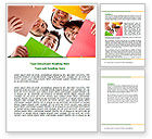 Careers/Industry: Students Team Word Template #07551