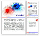 Business Concepts: 3D Pie Red Blue Colored Diagram Word Template #07558