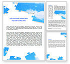 Consulting: Sky Puzzle Word Template #07563