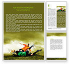 Sports: Soccer In A South Africa Word Template #07570