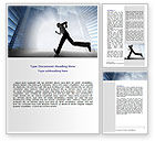 Business: City Runner Word Template #07586