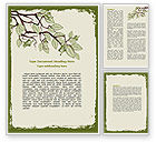 Nature & Environment: Spring Tree Stick Word Template #07591