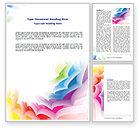 Abstract/Textures: Templat Word Desain Bahan #07596