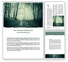 Nature & Environment: Misty Forest Word Template #07601