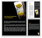 Financial/Accounting: Money Time Glass Word Template #07603