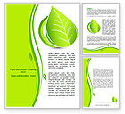 Nature & Environment: Tender Green Spring Leaf Word Template #07618