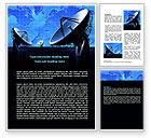 Telecommunication: Parabolic Antennas of Long Range Communication Word Template #07620