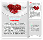 Careers/Industry: Heart Lips Word Template #07622