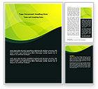 Abstract/Textures: Groen Blad Ontwerp Word Template #07623