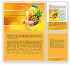 Careers/Industry: Tropical Vacation Word Template #07626