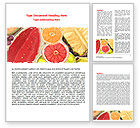 Food & Beverage: Fruit Pulp Word Template #07631