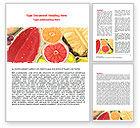 Food & Beverage: Modèle Word de pulpe de fruits #07631