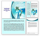 Sports: Underwater Picture Of Swimming Pool Word Template #07635
