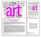 Art & Entertainment: Font Collage Word Template #07636