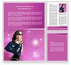Careers/Industry: Fascination Girl Word Template #07640