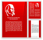 Flags/International: Plantilla de Word - lenin #07646