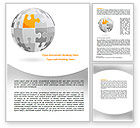 Business Concepts: Orange Jigsaw Word Template #07649