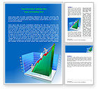 Business Concepts: Rising Rates 3D Histogram Word Template #07652