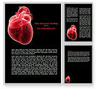 Medical: Model Of Heart Word Template #07662