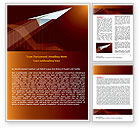 Business Concepts: Flying Up Word Template #07663