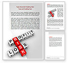 Financial/Accounting: Profit and Risk Word Template #07669