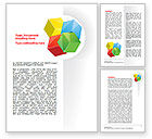 Education & Training: Color Blocks Word Template #07673