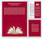 Education & Training: Open Book At The Table Word Template #07675