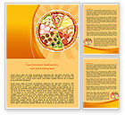 Food & Beverage: Pizza Word Template #07678