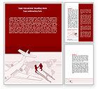 Business: Business Class Air Travel Word Template #07680