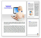 Education & Training: Child Computer Training Word Template #07684